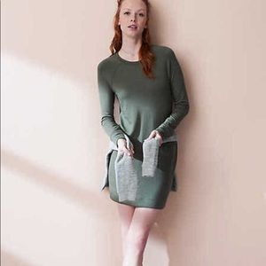 Lou and Grey olive green dress